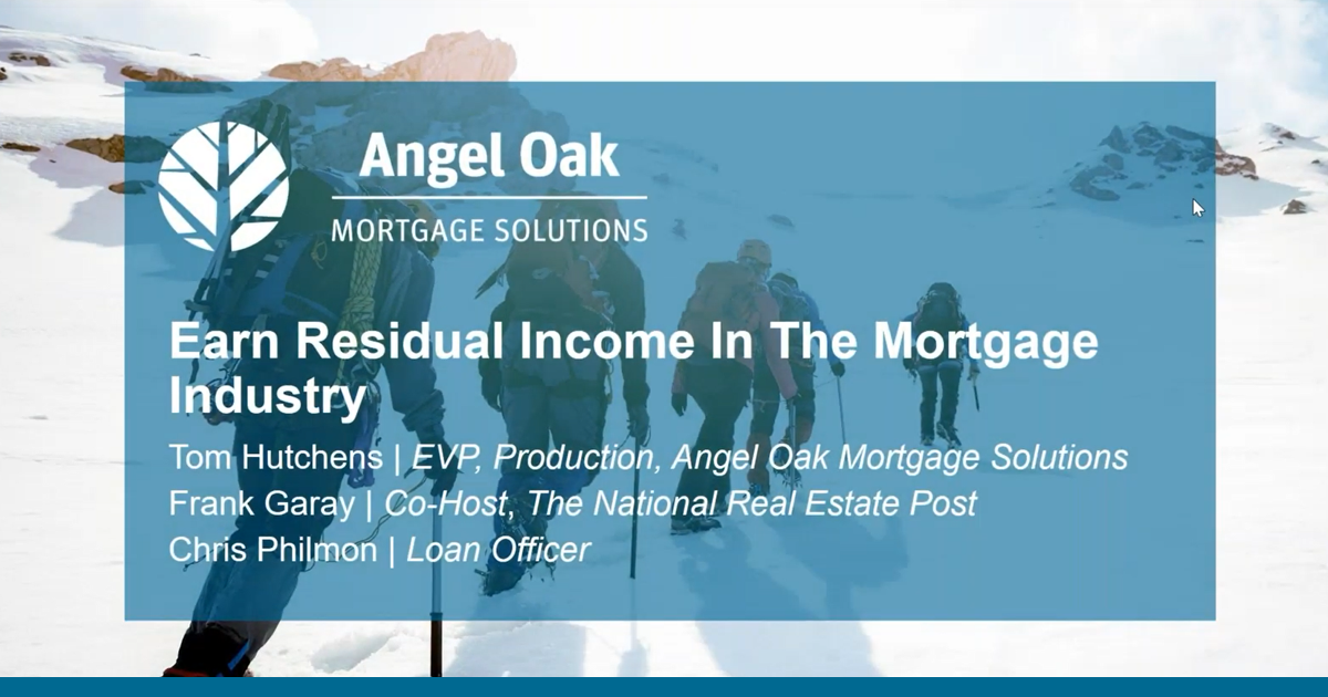 Earn Residual Income In The Mortgage Industry