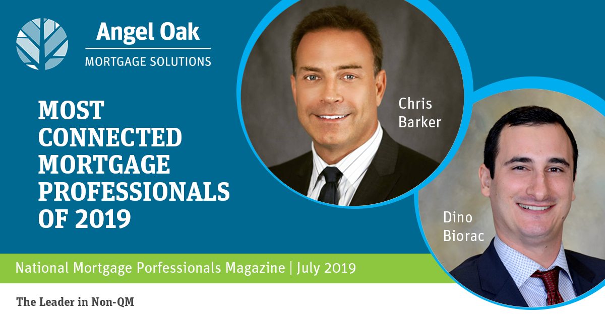 Chris Barker and Dino Biorac Named Most Connected Mortgage Professional by NMP
