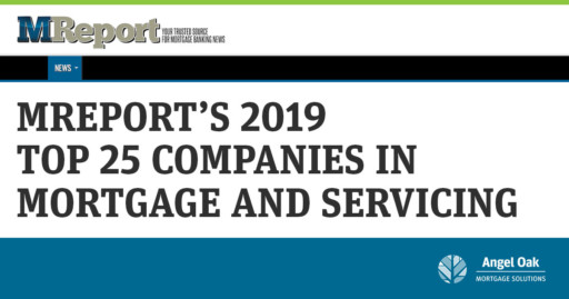 MReport's 2019 Top 25 Companies in Mortgage and Servicing